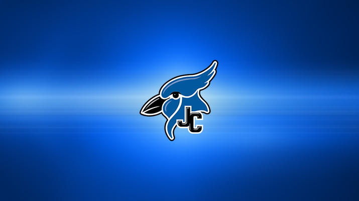 JCHS Logo on a blue abstract background.