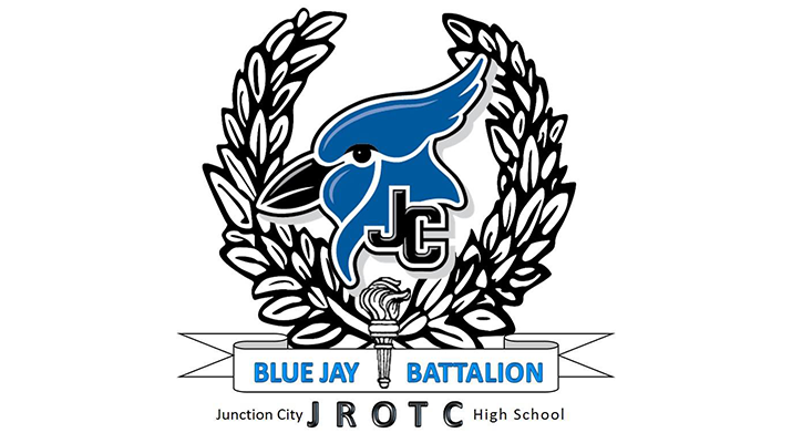 JCHS Blue Jay with RROTC banner