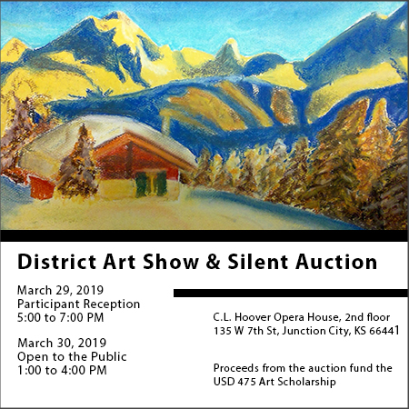 District Art Show Advertisement.